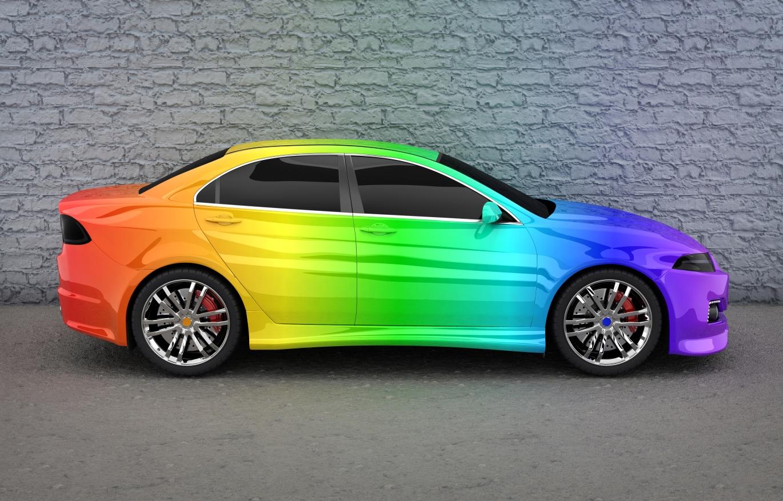 Auto Regenbogenlack