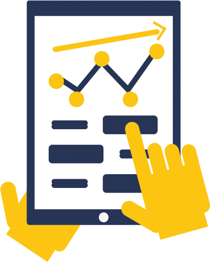 Icon Benefits Tablet Dashboard HAnds