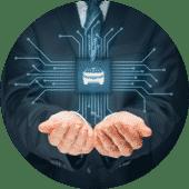 Bild Auto Daten Hände Digitalisierung