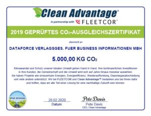 Clean Advantage Zertifikat