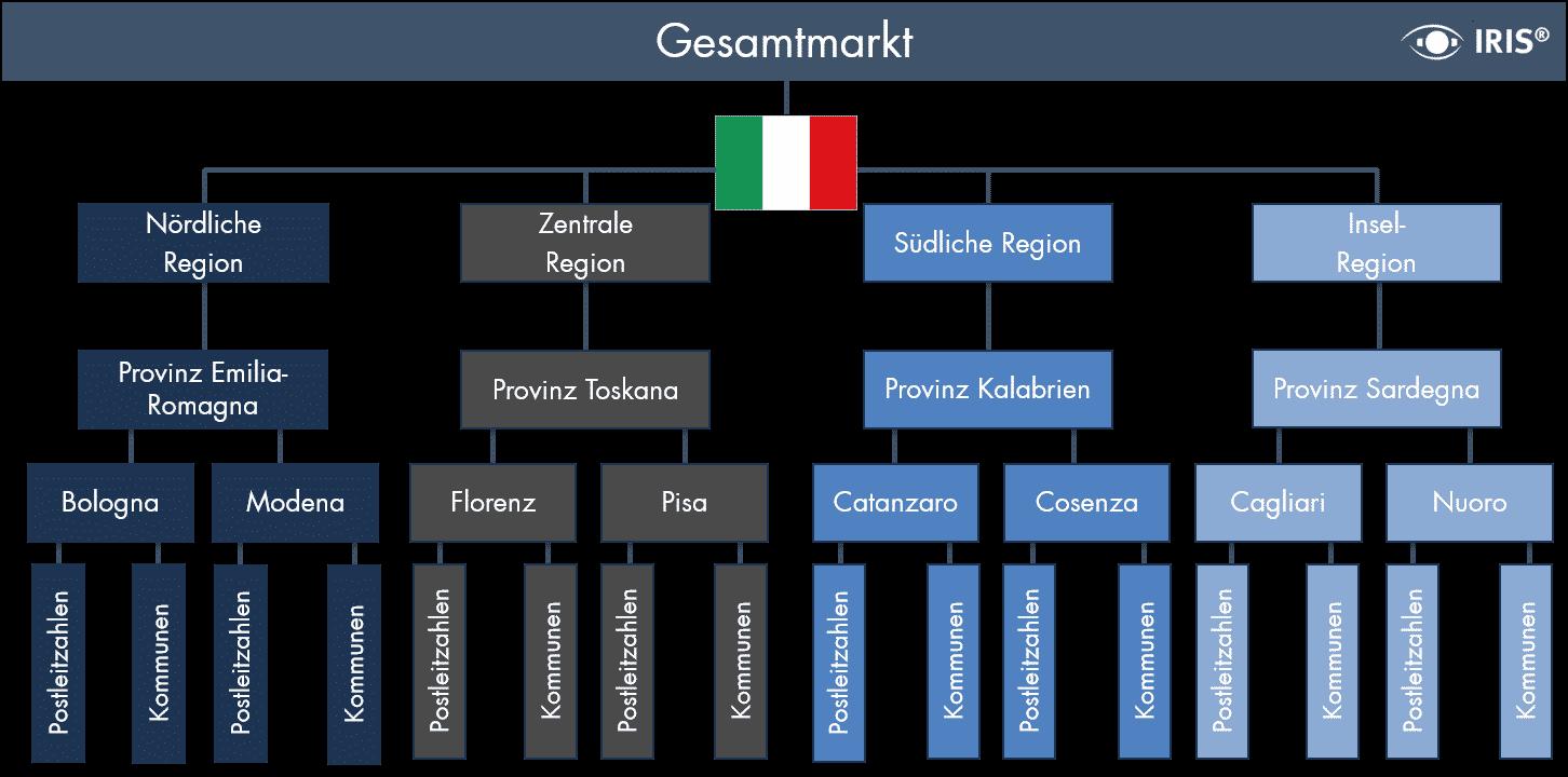 Dataforce-regionale-segmentierung