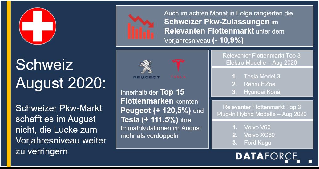 Infografik Gebrauchtwagenmarkt Schweiz