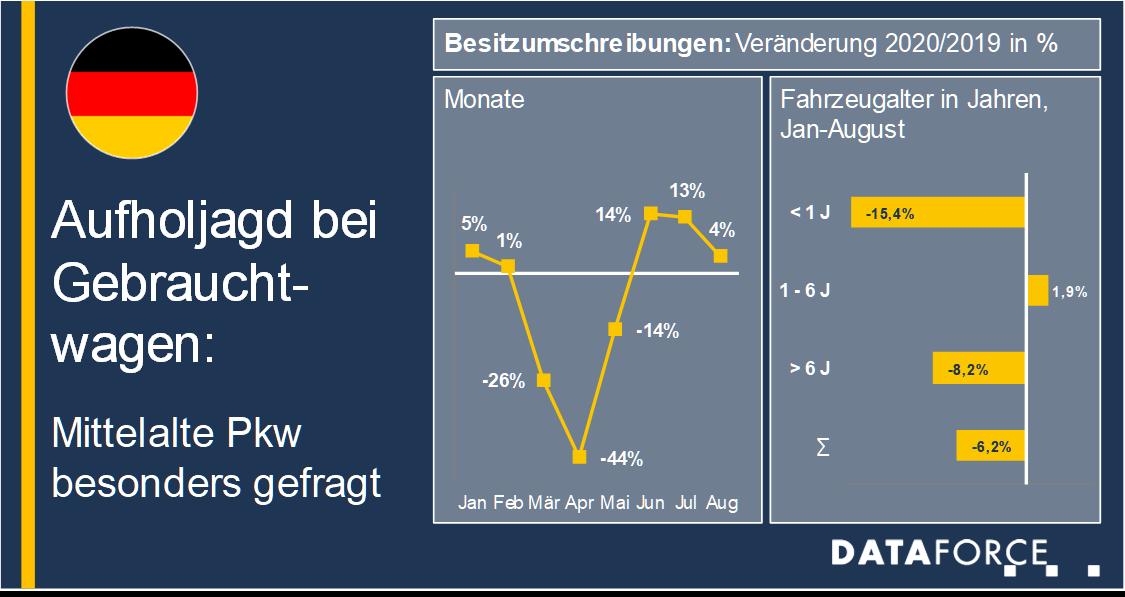 Infografik Gebrauchtwagenmarkt
