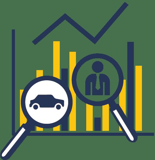 Icon Leadtelefonie warum Dataforce Lupe Business Man Car