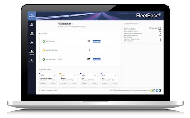 Dataforce FleetBase Dashboard Automotive Data
